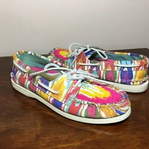 Sperry colorful beaded top sider boat shoe sz 7